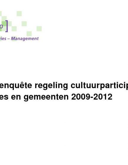 Cultuurparticipatie 2009-2012 – Uitkomsten digitale enquête 2009