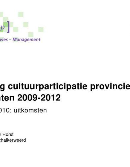 Cultuurparticipatie 2009-2012 – Uitkomsten digitale enquête 2010