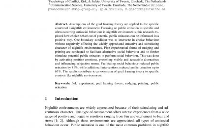 Persuasive technology against public nuisance – public urination in the urban nightlife district
