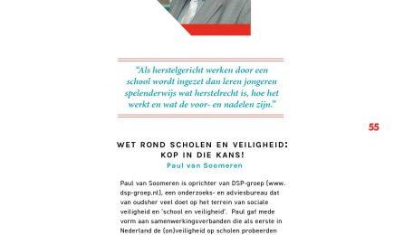 Artikel in RJN-Magazine: Wet rond scholen en veiligheid: kop in die kans!