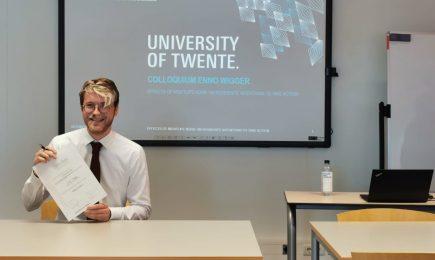 DSP-stagiair Enno Wigger presenteert met succes master thesis