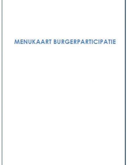 Menukaart burgerparticipatie