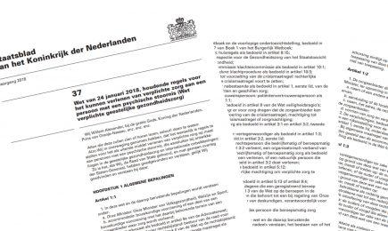 Ondersteuning bij implementatie Wet verplichte GGZ
